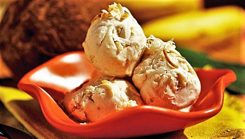 ice cream with coconut