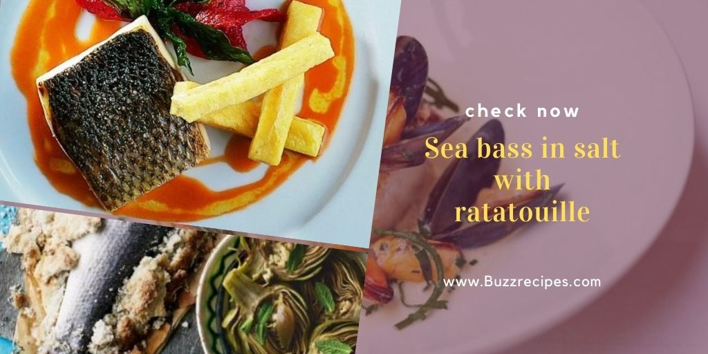 Sea bass in salt with ratatouille