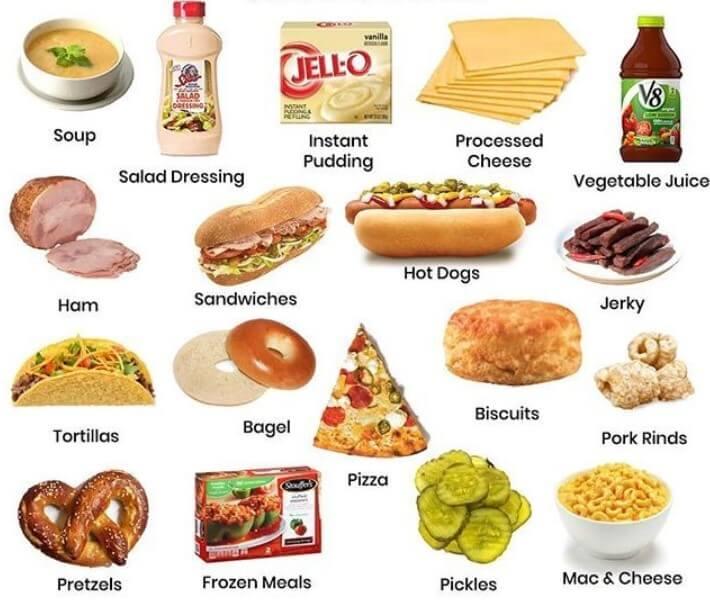 foods with sodium