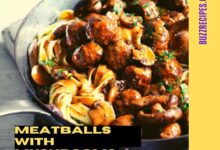 Photo of MEATBALLS WITH MUSHROOMS, LEEKS AND SAGE, NO ADDED FAT