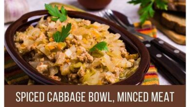 Photo of Spiced Cabbage Bowl, Minced Meat Recipe