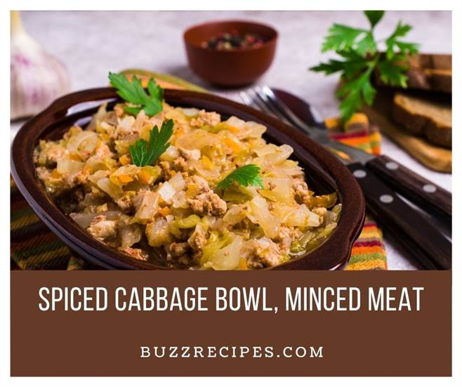 IMG01-Spiced Cabbage Bowl, Minced Meat Recipe