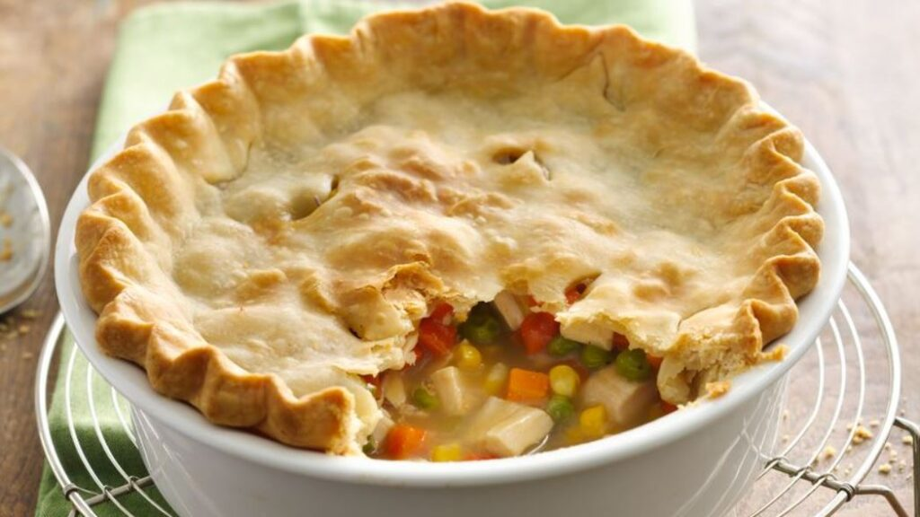 Chicken pot pie recipe with Bisquick